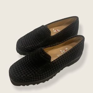 Ron White Rita Houndstooth Penny Loafer size 36.5